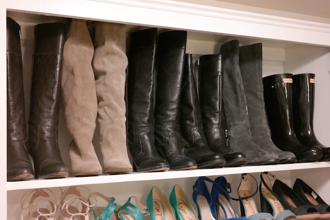 Now They Are All Organized On My New Shoe Shelves That Ruben Built!
