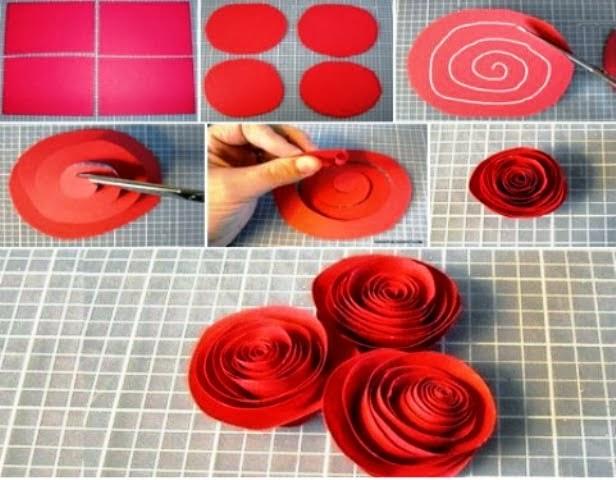 tips cara membuat bunga kertas