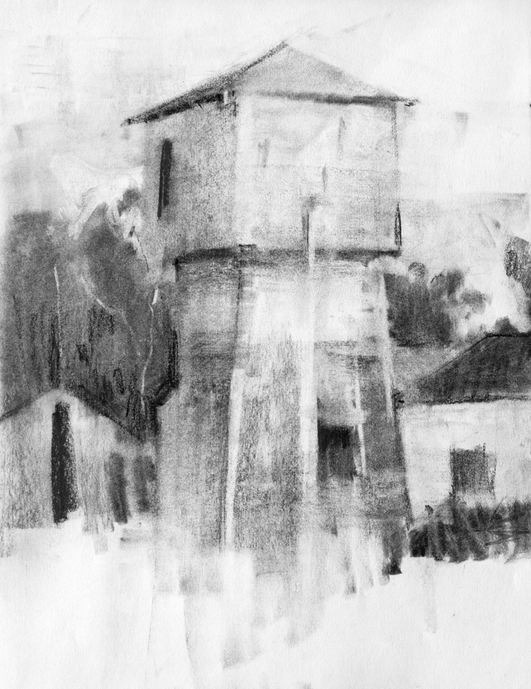 landscape charcoal sketches - photo #38