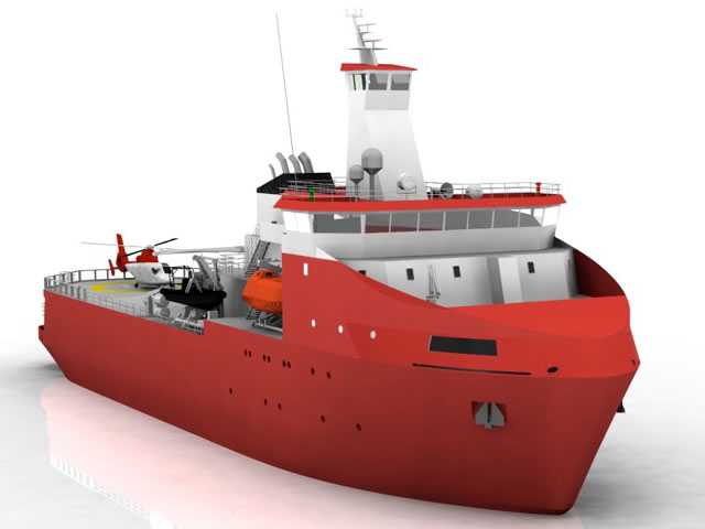Piriou's polar logistics support vessel