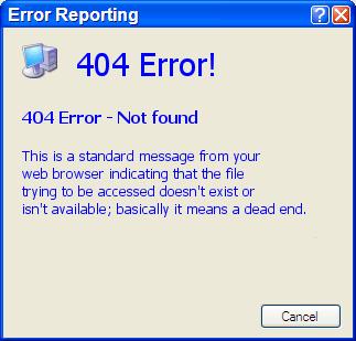 404 error: