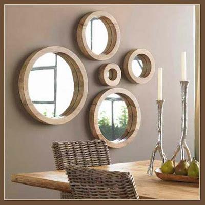 espelhos redondos composição