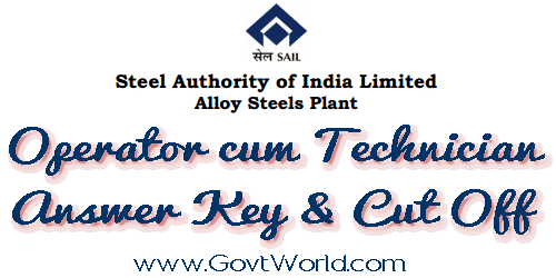 SAIL Alloy Steels Plant OCT (T) Answer Key 2015