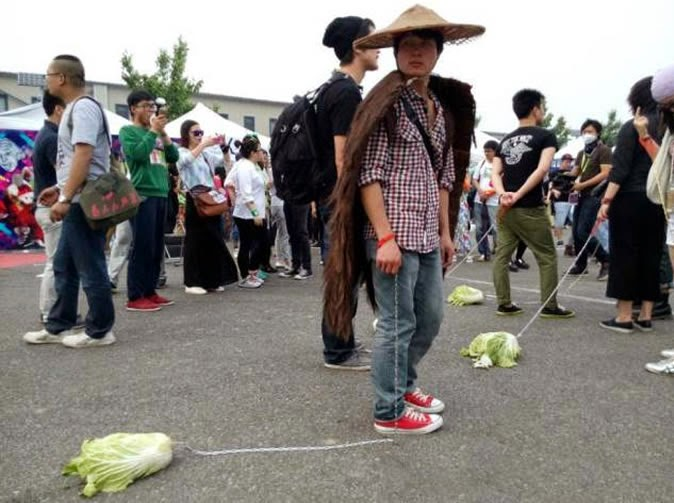 Chinese Take Cabbages For A Walk Instead Of Dogs