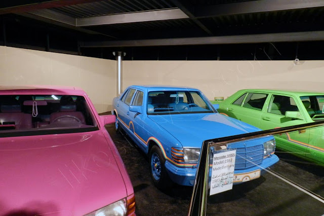 Rainbow color painted Mercedes Benz 500 SELs