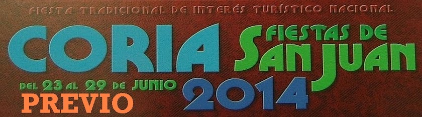 Sanjuanes de Coria 2014: Previo