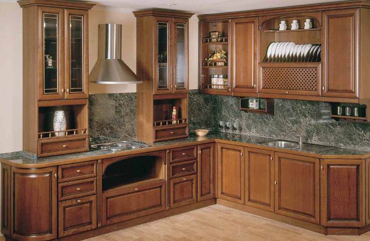Corner kitchen cabinet designs an interior design for Corner kitchen cabinet