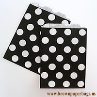 Black and white paper bags