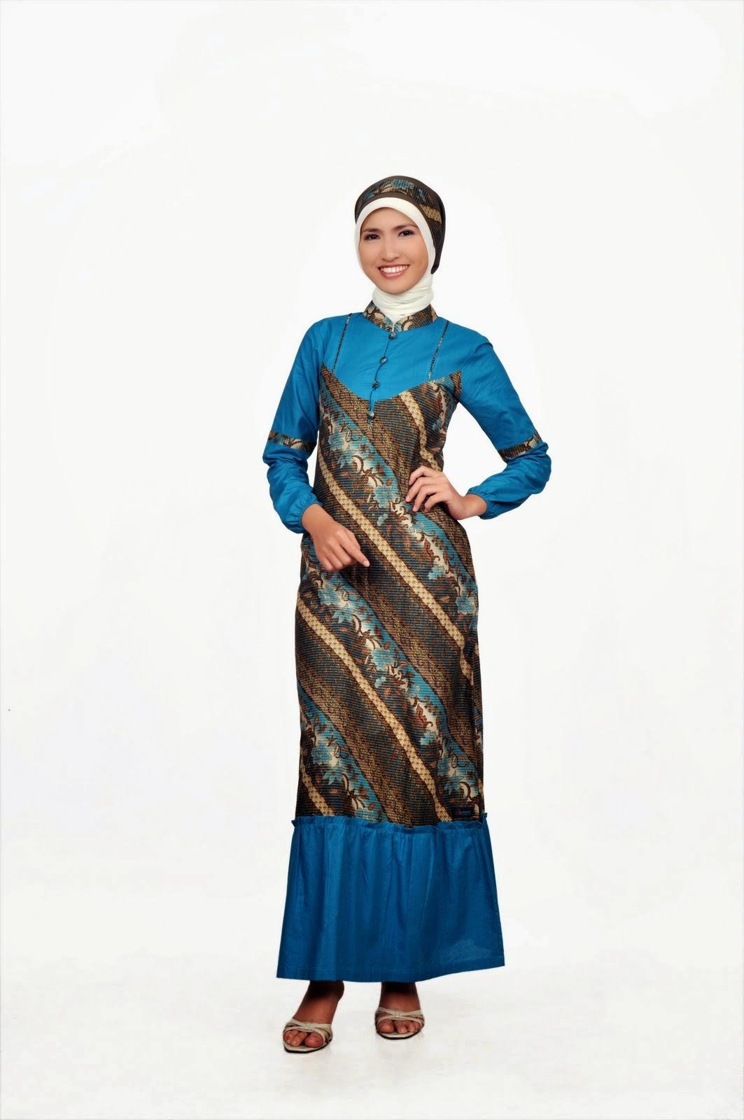 Model Baju Gamis Batik Remaja Trend 2015 Gaya Masa Kini