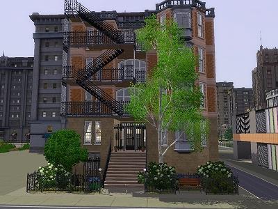 ブラウンストーンのアパート