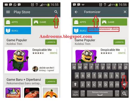 Cara Instal Aplikasi Fontomizer di HP Android