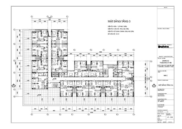 Mặt bằng tầng 3 tòa C dự án Valencia Garden