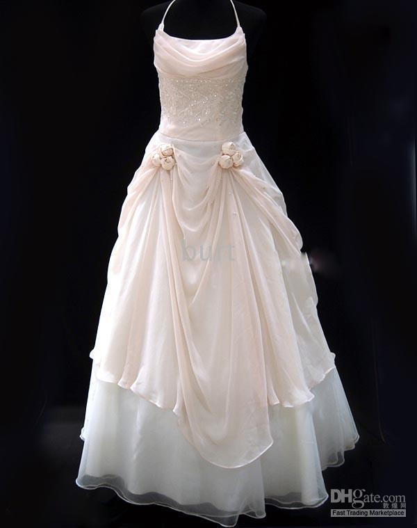 a wedding addict light pink wedding dress in modest style