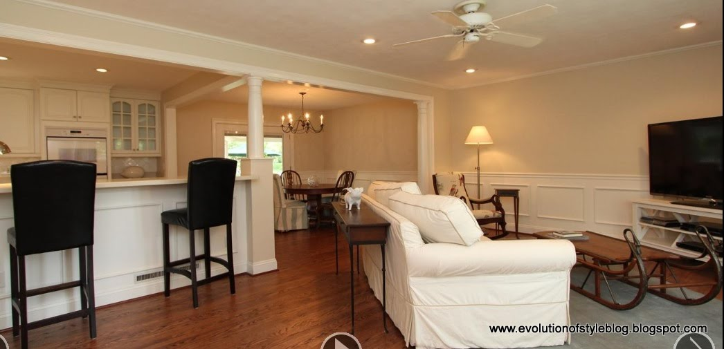 Staging to sell a case study in pictures evolution of style for Quad level home remodel