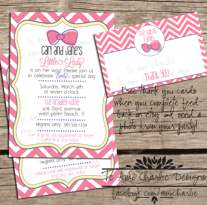 little lady baby shower invitations