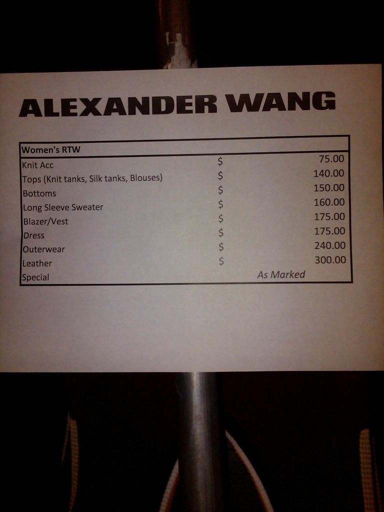 Madison Avenue Spy: Alexander Wang Sample Sale
