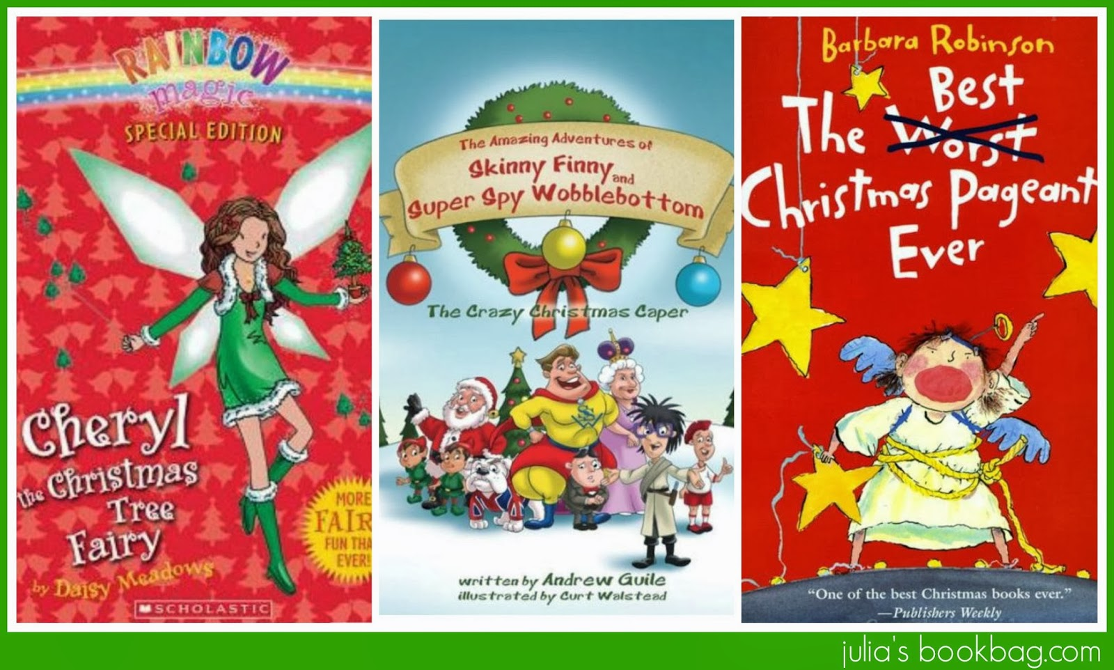 julia has read many many of the rainbow fairy books and honestly she doesnt looooooooooove them but they seem pleasant enough and i liked the idea of a - Best Christmas Books For Kids