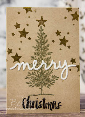 Paperchase Inspired Christmas Card made using Stampin' Up! UK Supplies