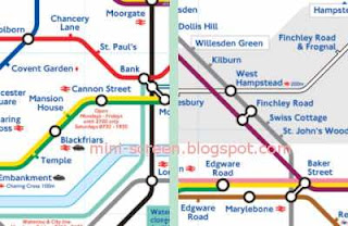 London Underground Blackberry App Interface