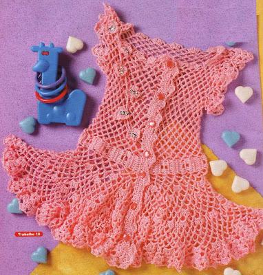 derya baykal orguleri turuncu file kiz bebek elbise ornekleri Tığ İle İşlenen Kız Bebek Elbise Modelleri