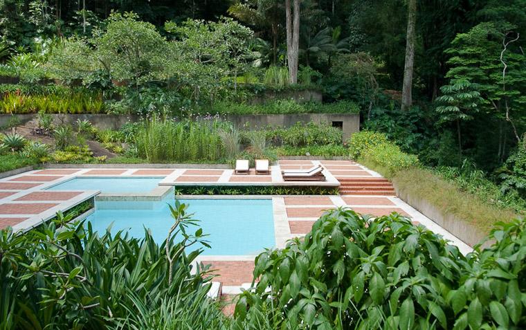 El muro vegetal roberto burle marx residencia de raul de for La paisajista
