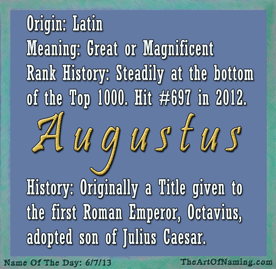 Meaning, origin and history of the name August - Behind ...