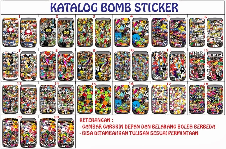 garskin bomb sticker