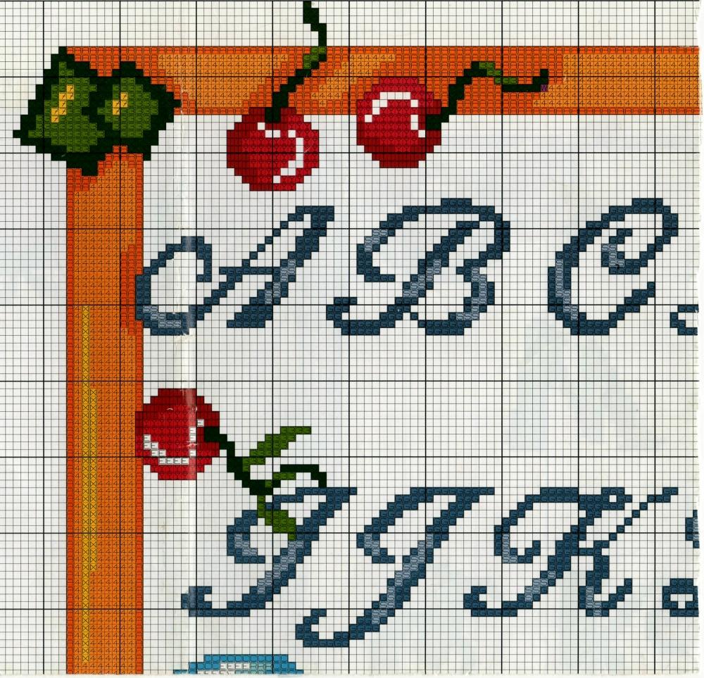 Professione donna schema punto croce l 39 alfabeto blu for Lettere a punto croce schemi