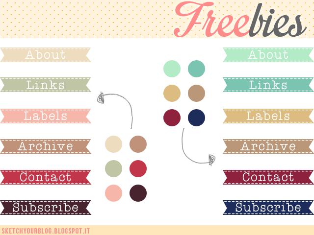 FREEBIES! Immagini per i titoli dei gadget per il tuo blog
