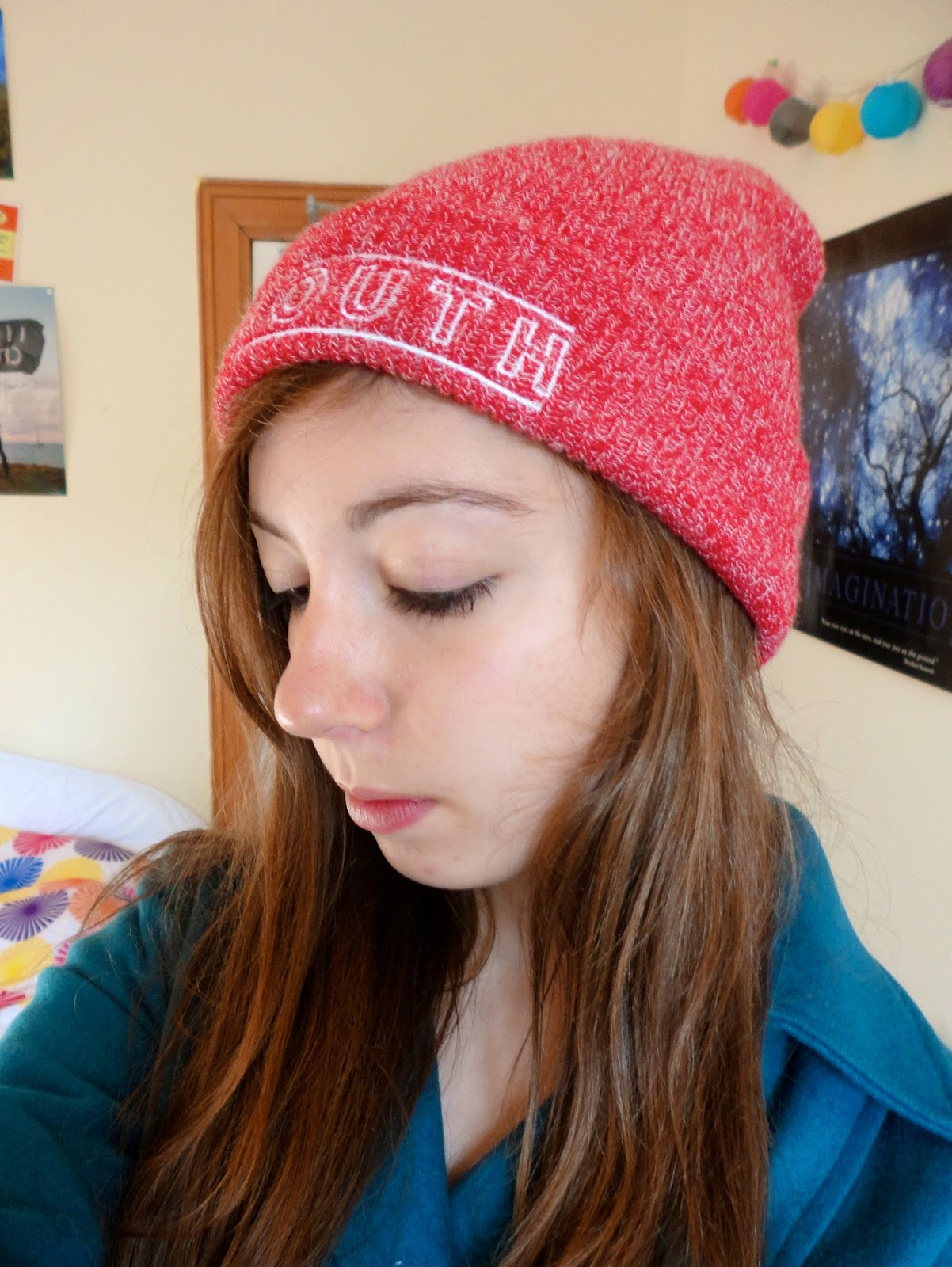 red cavalier youth, you me at six beanie hat