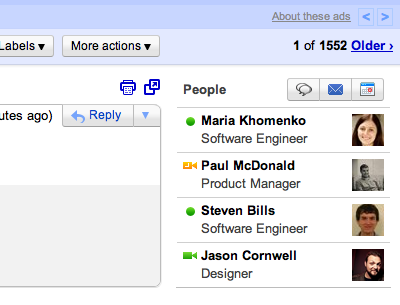 people widget gmail