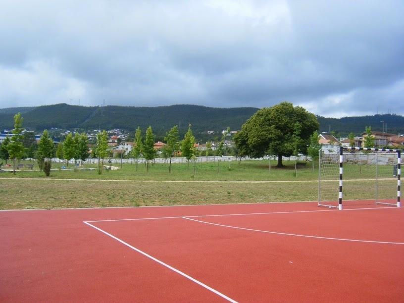 Vista do Parque do campo de futebol