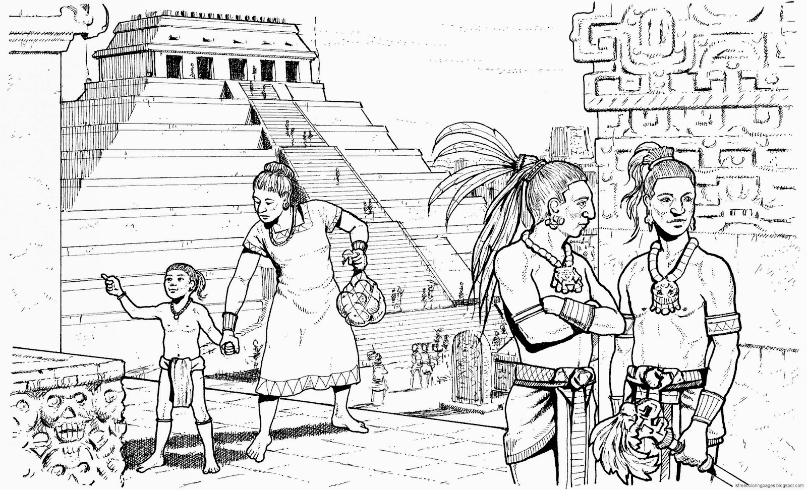 Adult Top Mayan Coloring Pages Images top maya coloring pages free mayan calendar page marjorie barrick museum images