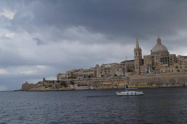 la valeta desde el mar, vistas de la valeta, Malta, la valeta