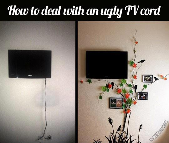 How To Deal With An Ugly TV Cord
