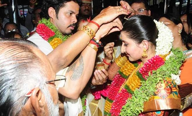 Sreesanth marriage