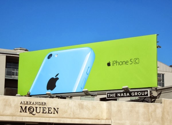 Blue green iPhone 5c wave 2 billboard