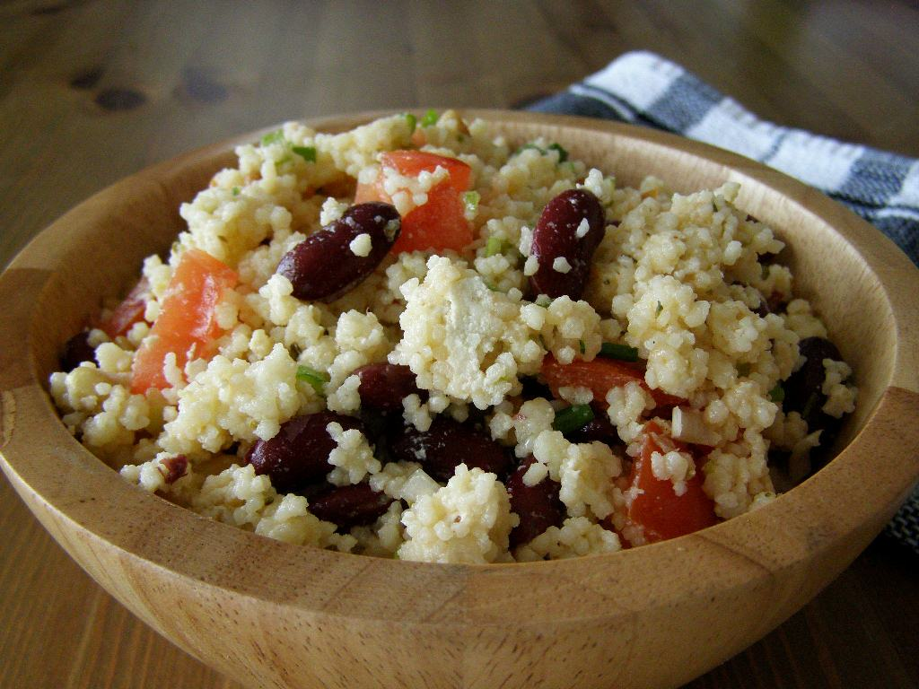 maple•spice: Mediterranean Couscous Salad with Almond Feta