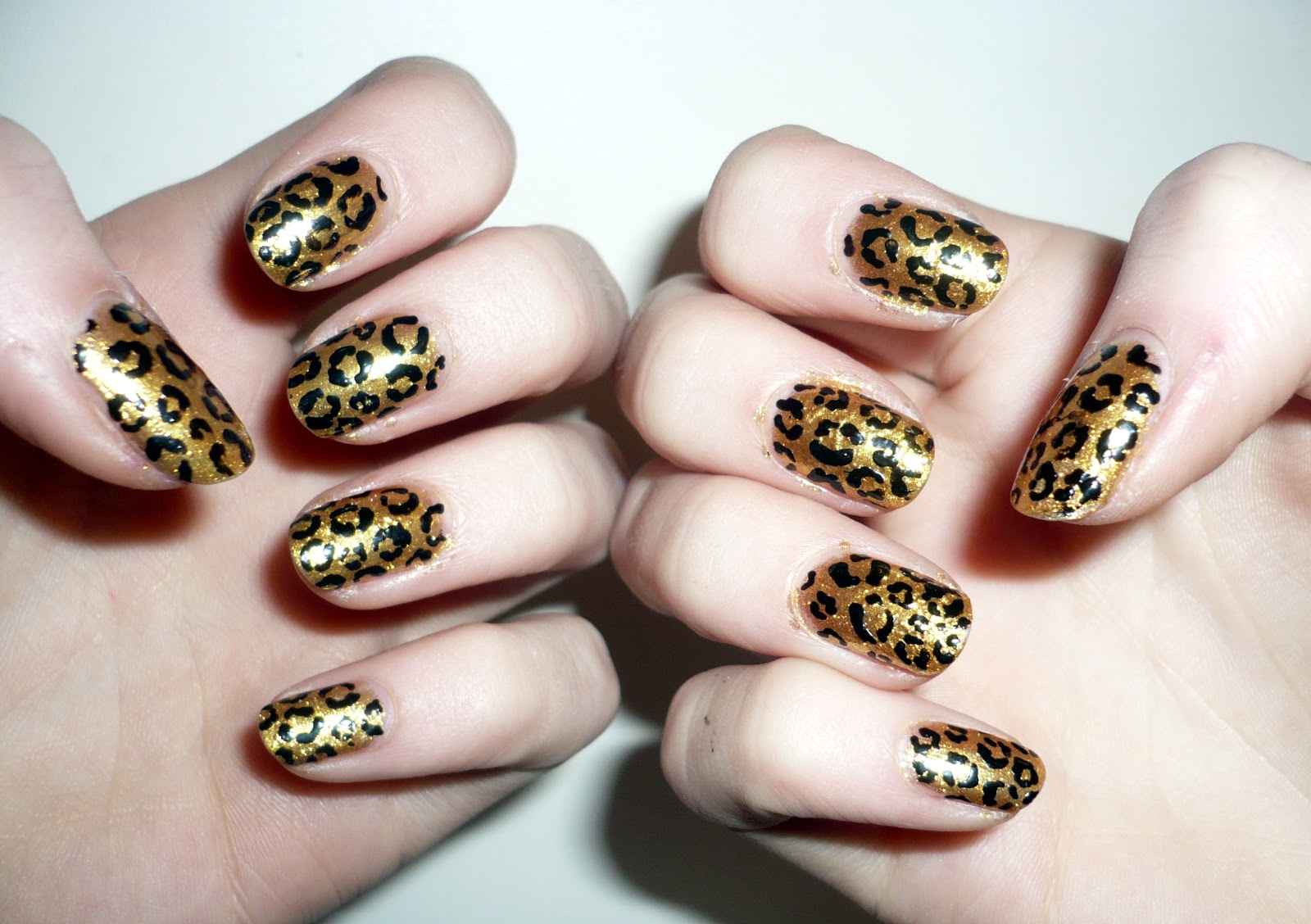 Wah nails archives hannah louise fashion today my nails are painted with models own gold rush and i added the leopard print detail with a models own x wah nails black nail art pen two products prinsesfo Images