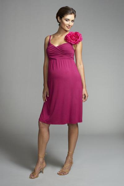 kurzes Kleid Foshee einfache und wunderbare Geschichte   und Weste Kleider für Schwangere - Kleider schwanger - Kleider schwanger Prominente