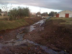 Luego de culminadas las tareas de limpieza en el principal Pluvial del barrio Tanco