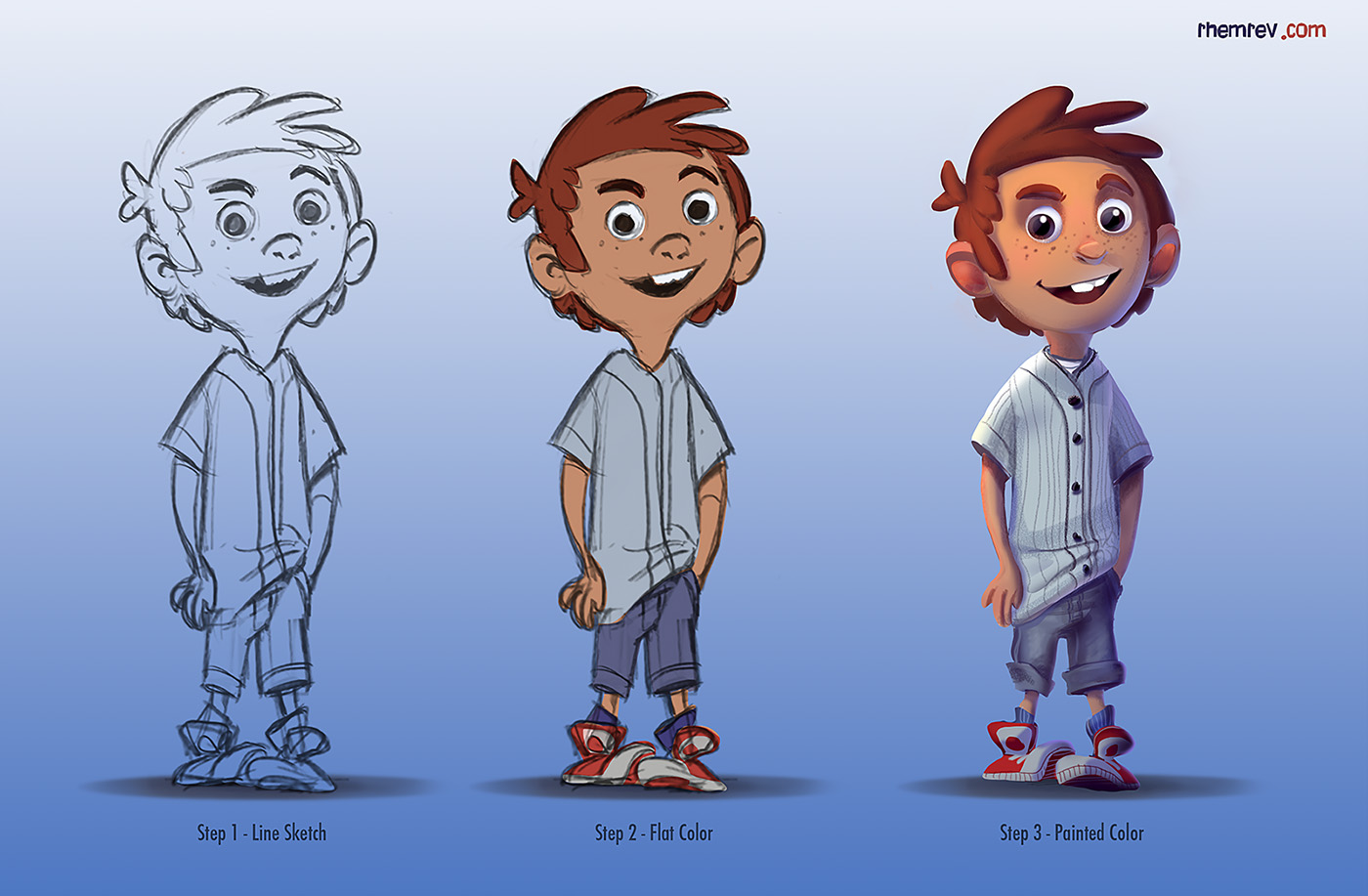 Character Design Workflow : Rhemrev visual development character process