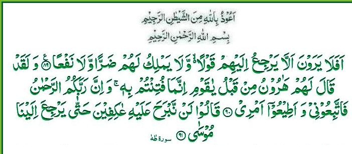 ayat 89 did they not see that it could not return them a word for ...