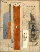 Pablo Picasso, Guitar, Gas Jet, Bottle, 1913