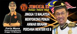 Jingga13 Malaysia menyokong DS Anwar Ibrahim PM8