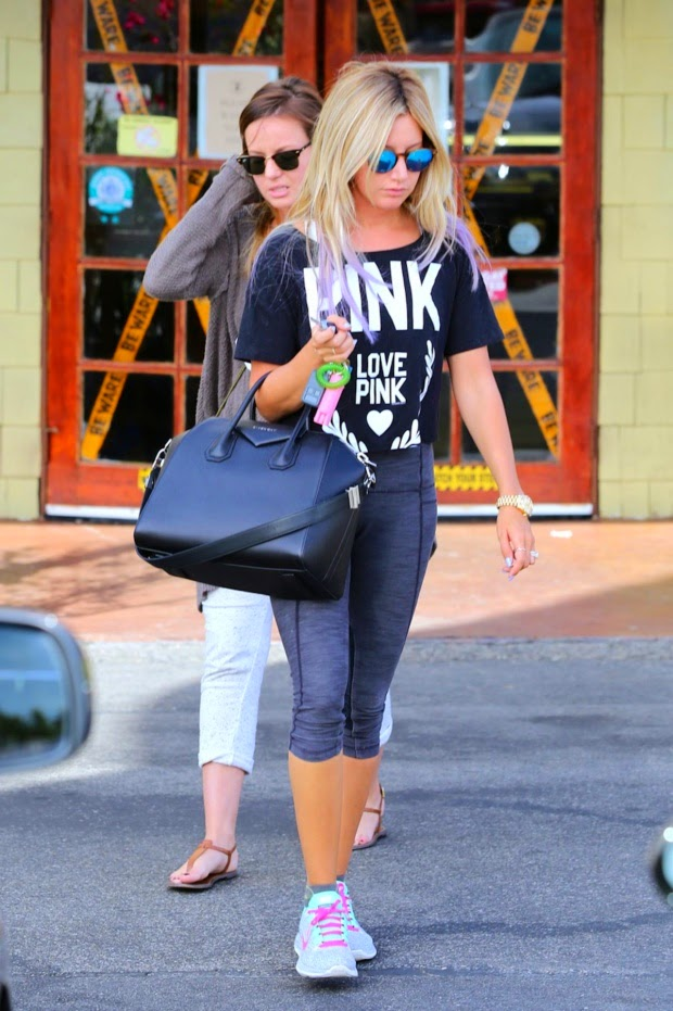 Ashley Tisdale at Coral Tree Cafe