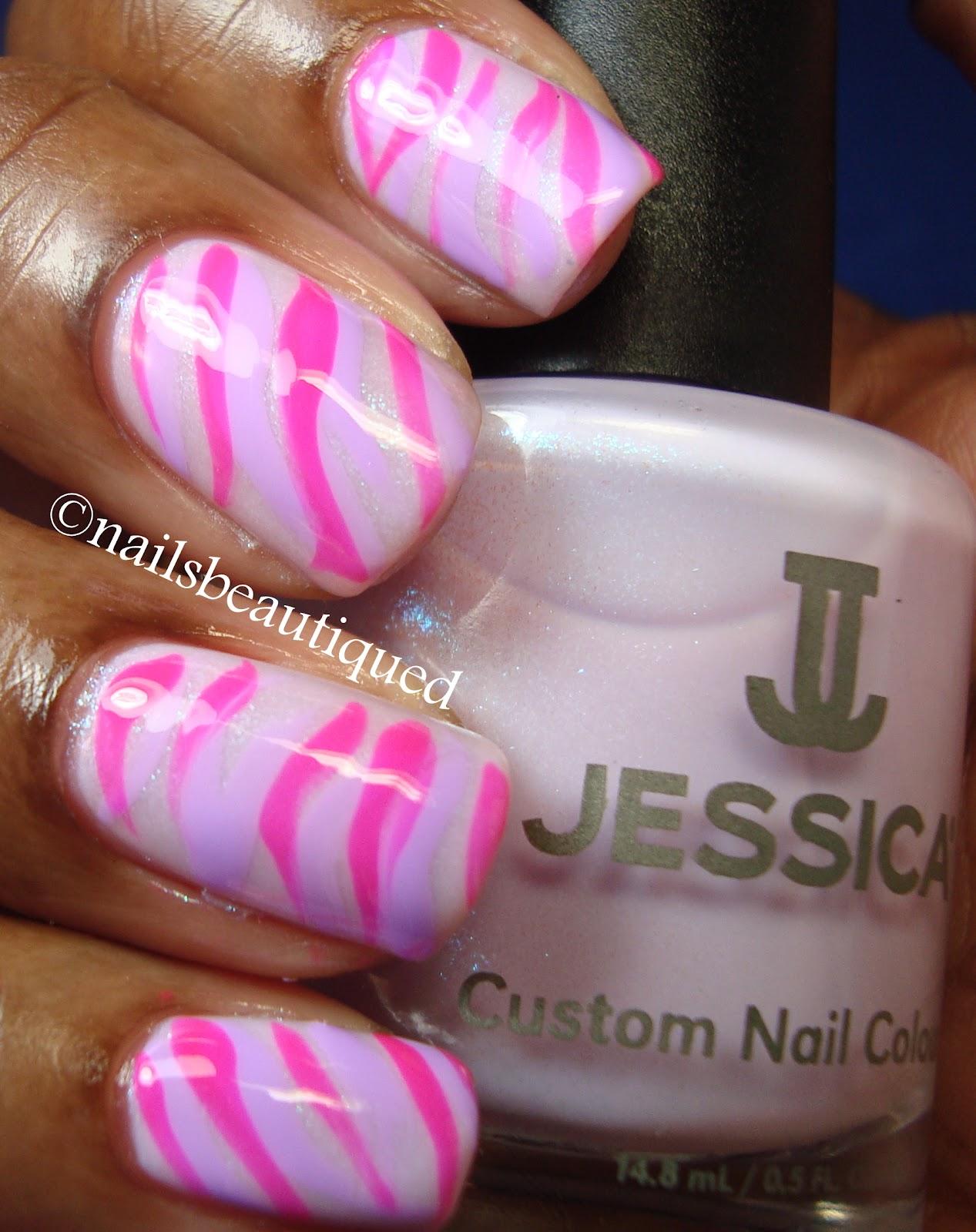 Unbitten polish zebra stripe nail art design zebra stripe nail art design prinsesfo Images