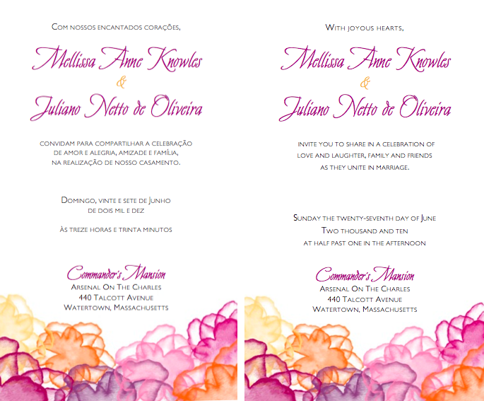 de lovely affair {multicultural weddings} bilingual wedding, Wedding invitations
