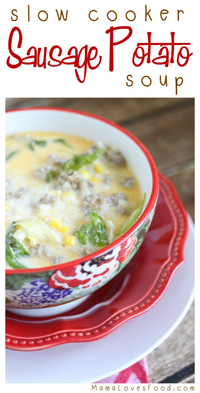 Sausage Potato Soup Recipe for the Slow Cooker