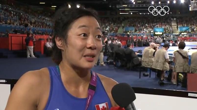 Carol huynh : jagoan gulat kanada berwajah asia